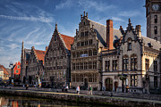 Guild Art - Ghent Guild Houses by Joan Carroll