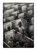 Ghetto Print by Chris Van Es