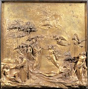 Adam And Eve Framed Prints - Ghiberti Lorenzo, Creation Of Adam Framed Print by Everett