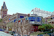 Candy Digital Art Prints - Ghirardelli Chocolate Factory San Francisco California 7D14093 Artwork Print by Wingsdomain Art and Photography