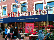Ghirardelli Framed Prints - Ghirardelli Chocolate Shop in San Francisco-CA Framed Print by Ruth Hager