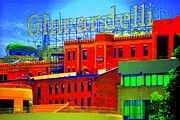 Ghirardelli Chocolate Framed Prints - Ghirardelli Square Framed Print by Mamie Gunning