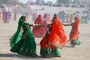 Ghoomar Dance In Rajasthan Print by Rakesh Sharma