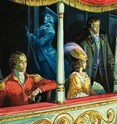 Ghost At The Theatre Print by Andrew Howat