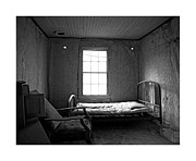 Black And White Photography Pyrography Metal Prints - Ghost Bedroom Metal Print by Armando Arorizo