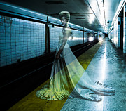 Subway Metal Prints - Ghost Bride Metal Print by Diane Diederich