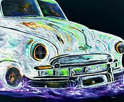 Headlight Mixed Media - Ghost Car by Eloise Schneider