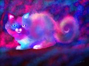 Ghost Digital Art - Ghost Cat 2 by Nick Gustafson