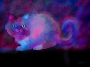 Nick Gustafson Art - Ghost Cat by Nick Gustafson