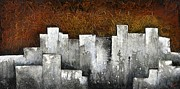 City Scape Paintings - Ghost City by Shadia