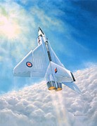 Jet Painting Prints - Ghost Flight RL206 Print by Michael Swanson