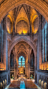 Liverpool Digital Art Prints - Ghost in the Cathedral Print by Adrian Evans