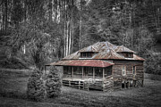 Log Cabins Prints - Ghost in the Window Print by Debra and Dave Vanderlaan
