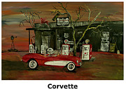 Abstract Windmill. Paintings - Ghost Of 66 Corvette by Mark Moore
