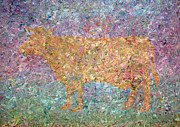 Abstract Field Metal Prints - Ghost of a Cow Metal Print by James W Johnson
