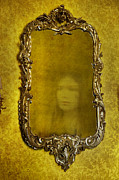 Ghost Story Art - Ghost Of A Woman Reflected In A Mirror by Lee Avison