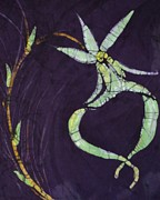 Fine Art Batik Posters - Ghost On Purple Poster by Kay Shaffer