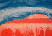 Visionary Artist Painting Originals - Ghost Ranch original painting by Sol Luckman