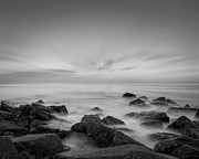 Jerseyshore Photo Originals - Ghost Rocks BW by Michael Ver Sprill