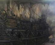 Nightmares Paintings - Ghost Ship by Nick Rose
