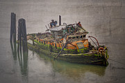 Sunken Boat Prints - Ghost Steamer Print by Debra and Dave Vanderlaan