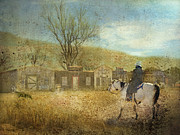 Cowboys Digital Art Metal Prints - Ghost Town #1 Metal Print by Betty LaRue