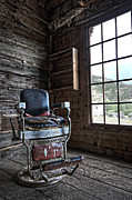 Miners Ghost Framed Prints - Ghost Town Barber Chair - Bannack Montana Framed Print by Daniel Hagerman