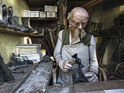 Work Bench Prints - Ghost Town Cobbler - Virginia City - Montana Print by Daniel Hagerman