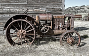 Old Plows Posters - Ghost Town Farm Tractor - Molson Washington Poster by Daniel Hagerman