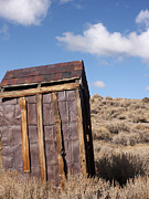 Ghost Town Outhouse Prints - Ghost Town Outhouse Print by Art Block Collections