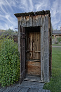 Outhouses Framed Prints - Ghost Town Outhouse - Montana Framed Print by Daniel Hagerman