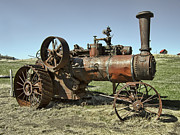 Ghost Town Steam Tractor Print by Daniel Hagerman