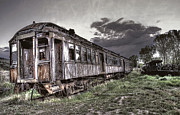 Railroad Ties Prints - Ghost Town Train - Montana Print by Daniel Hagerman