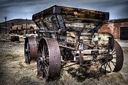 Old Gold Mine Framed Prints - Ghost town wagon Framed Print by Eduard Moldoveanu