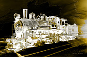 Gunter Nezhoda Metal Prints - Ghost Train Metal Print by Gunter Nezhoda