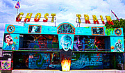 Amusements Prints - Ghost Train Print by Terri  Waters