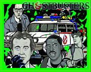 Horror Car Posters - Ghostbusters Poster by Gary Niles
