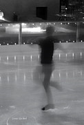 Speed Skating Art - Ghostly Skater by Donna Blackhall