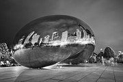 Millennium Park Prints - Ghosts in The Bean Print by Adam Romanowicz