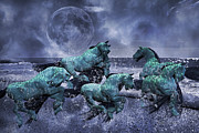Horses Digital Art - Ghosts of the Knight by Betsy A Cutler East Coast Barrier Islands