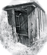 Ghost Town Outhouse Framed Prints - Ghosts Of The Outhouse Rocky Mountains Framed Print by Ed  Riche