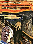 George Bush Digital Art Posters - Ghosts of the Past Poster by John Malone