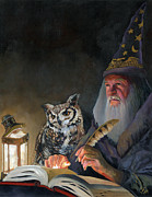 Wizard Prints - Ghostwriter Print by J W Baker