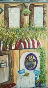 Bistro Paintings - Giannis Bistro by Eloise Schneider