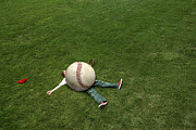 Baseball Field Art - Giant Baseball by Diane Diederich