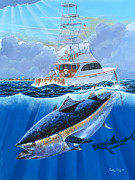 Caribbean Paintings - Giant Bluefin Off00130 by Carey Chen