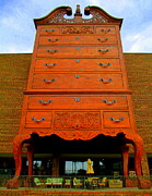 Drawers Prints - Giant Chippendale Chest Of Drawers Print by Randall Weidner