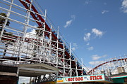 Hot Dogs Prints - Giant Dipper At The Santa Cruz Beach Boardwalk California 5D23883 Print by Wingsdomain Art and Photography