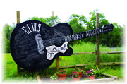 Acoustic Guitar Digital Art - Giant Elvis Guitar by Bill Cannon