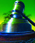 Professional Digital Art Prints - Giant Gavel - 20130118 - v2 Print by Wingsdomain Art and Photography